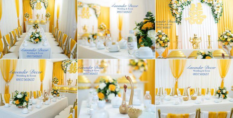 trang trí tiệc cưới 04 1 787x400 - Trang Trí Gia Tiên với Tone Vàng